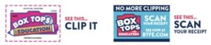 Box Tops Clip it Scan it