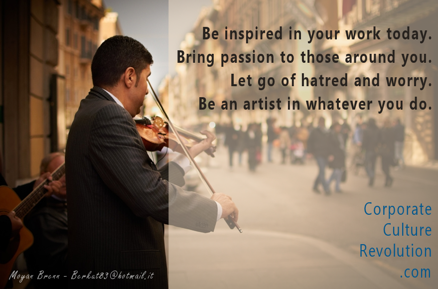 become an artist in your work