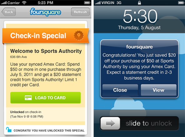 Why the AmEx / Foursquare Mobile Coupon Push Is Good for Merchants