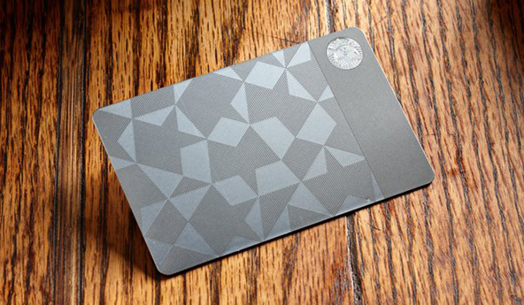 When Stainless Steel Replaces Plastic or the Starbucks Way to Prepaid Cards