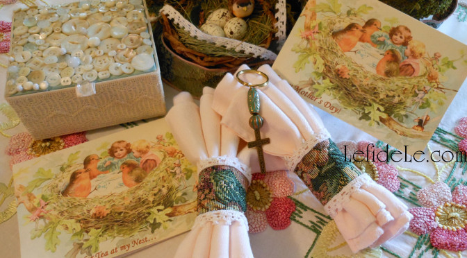 Quick & Easy Tapestry Napkin Rings, Upcycled Button Jewelry Box, & Keychain Gift Crafts Tutorial (for Mother's Day Tea)