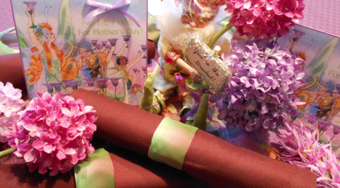 Free Printable Fairyland Mother's Day & Birthday Cards + Super Easy DIY Ribbon Napkin Rings Craft Tutorials