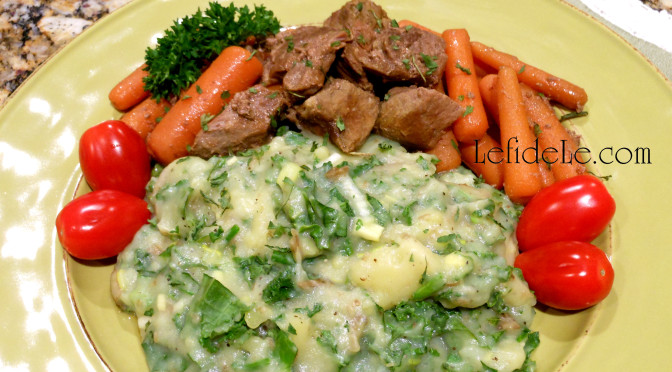 Irish Colcannon / Herbed Kale Mashed Potatoes St. Patrick's Day Recipe (Allergy-Friendly, Gluten-Free, Dairy-Free, Vegan)