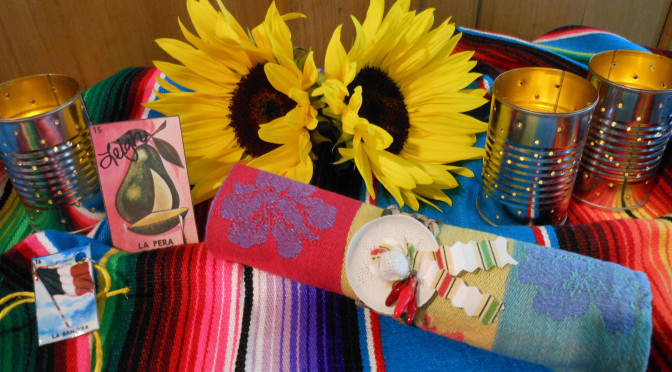 Easy DIY Sombrero Napkin Rings & Serape Invitations + Loteria Sangria / Wine Glass Charms & Place Cards Crafts (for Cinco de Mayo Fiesta Tablescape)