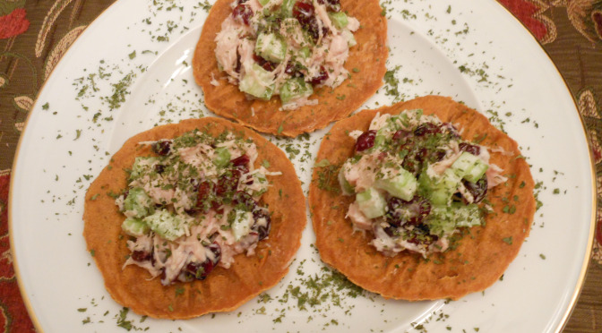 Turkey Salad Recipe (Dairy-Free, Egg-free) Sweet Potato Tortas Topping