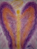 Wisdom of the Angels - Angel of Life Purpose pastel painting