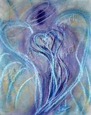Wisdom of the Angels - Angel of Spiritual Transformation pastel painting