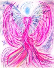 Twin Flame Angel Art Pastel Painting