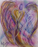 Wisdom of the Angels - Angel of Enlightenment pastel painting