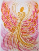 Wisdom of the Angels - Angel of Positive Attitude pastel painting