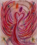 Wisdom of the Angels - Angel of Sympathy pastel painting