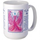 Wisdom of the Angels - angel art mug, Angel Gifts, Angelic Art, angels, Art, emotions, healing art, Love, New age gifts, soul mate, spirituality, true love, twin flame, unconditional love, Visionary Art