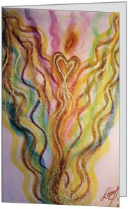 Wisdom of the Angels - angel art card, Hospice, illness, love, cancer, death, dying