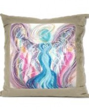 Wisdom of the Angels - Angel of Divine Union suede pillow