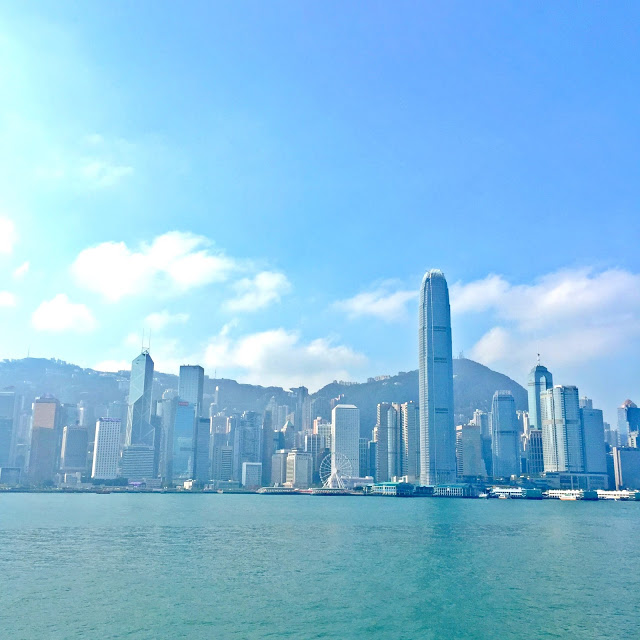 harbour view during the day in hong kong