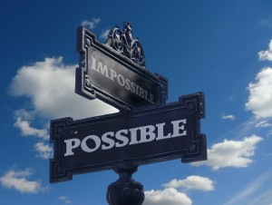 The corner of possible and impossible.