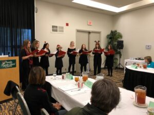 Royal HS Vocal Jazz Ensemble led by Bethany Uko, entertained the SVCC membership at the December, 2019 luncheon meeting.