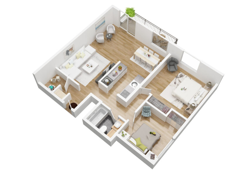 residence bellevue unit A plan