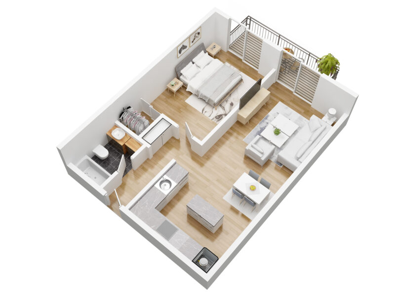 residence bellevue unit B plan