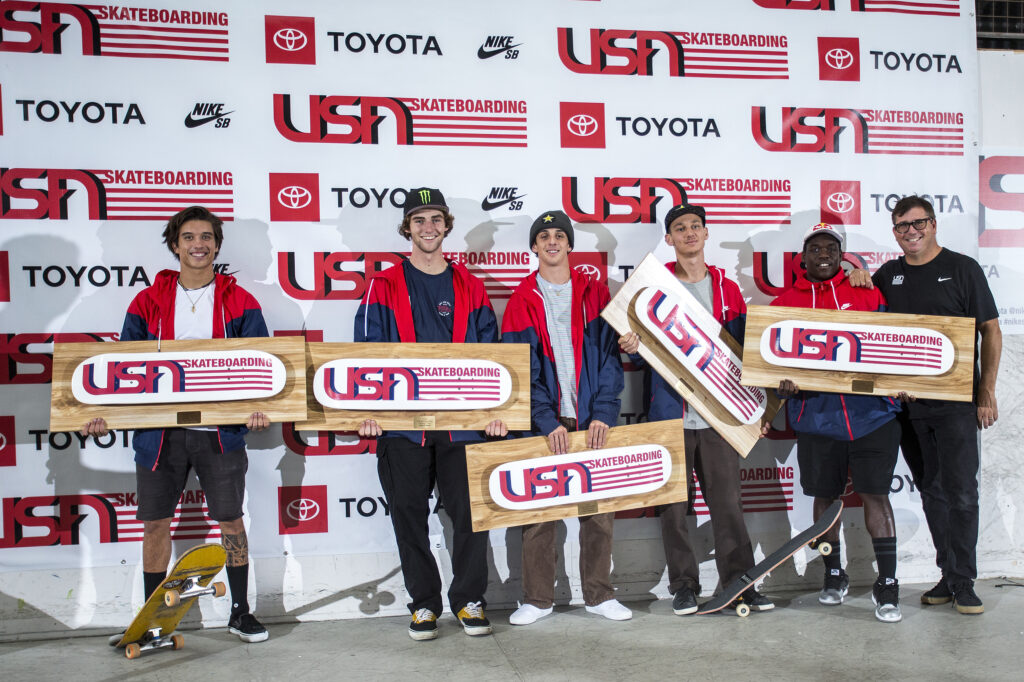2020 USA Skateboarding Men's Park National Team
