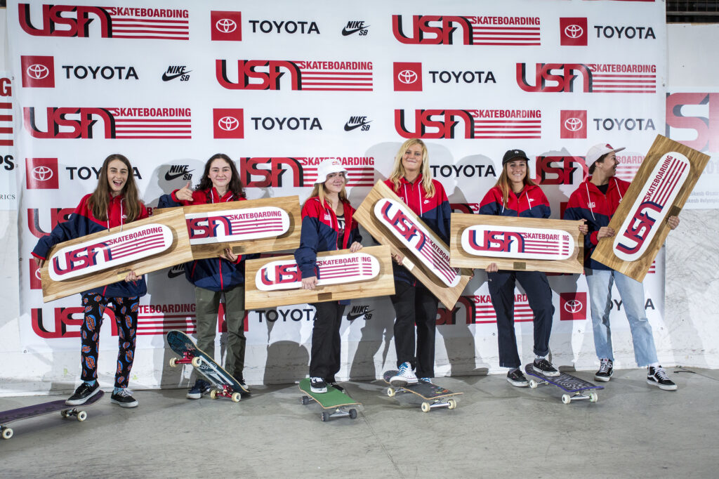 2020 USA Skateboarding Women's Park National Team