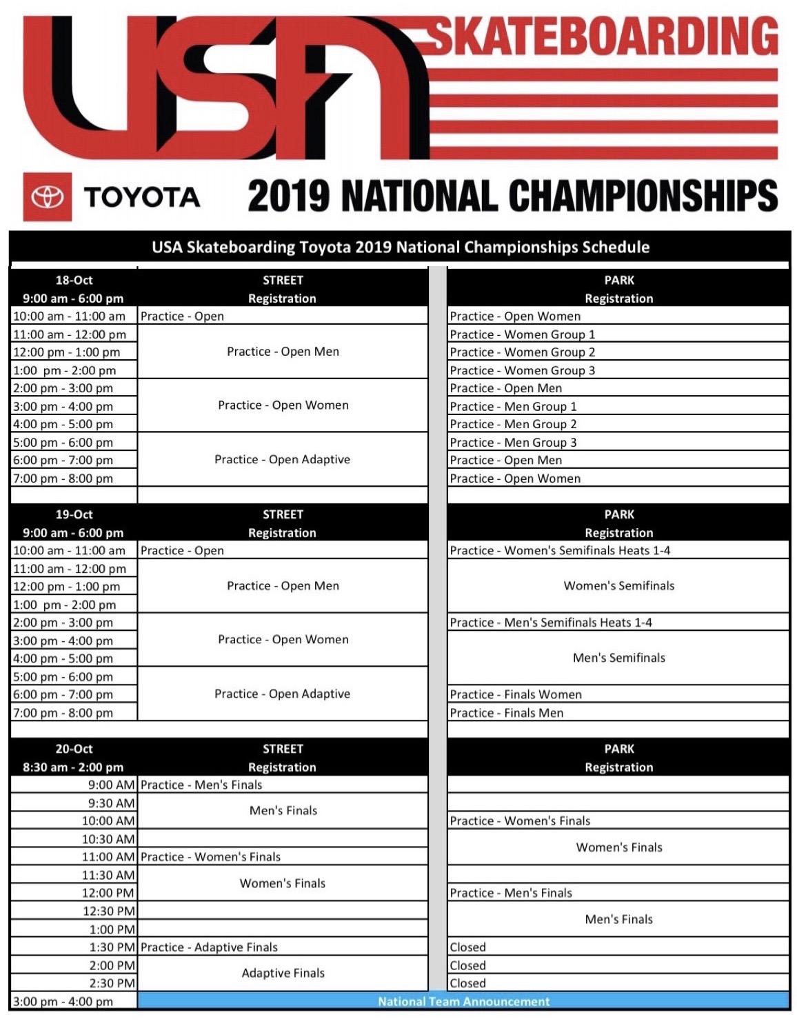 usa-skateboarding-national-championships-schedule