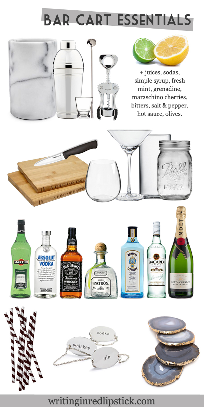 things I need for a bar