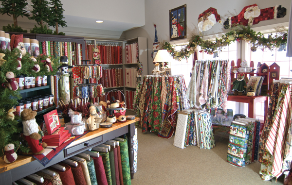 Christmas fabric at Keepsake Quilting