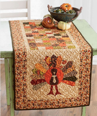 dresden plate table runner
