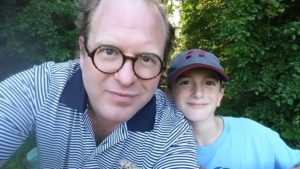 ben and son hiking