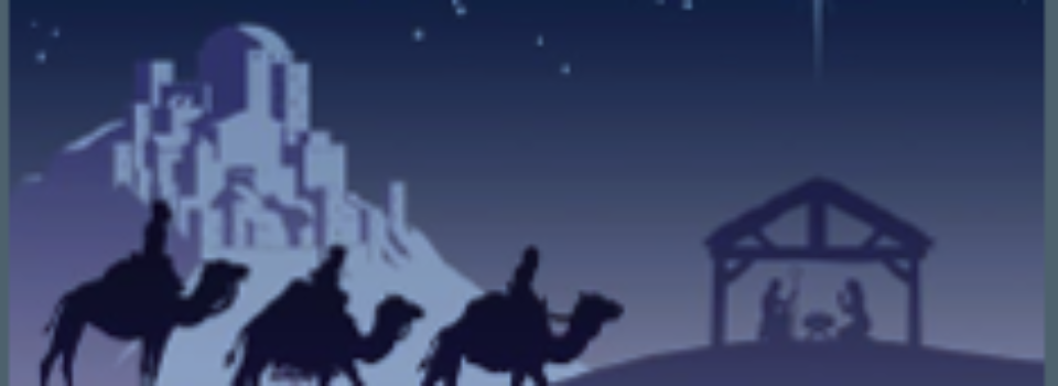 Three wise men, star, stable