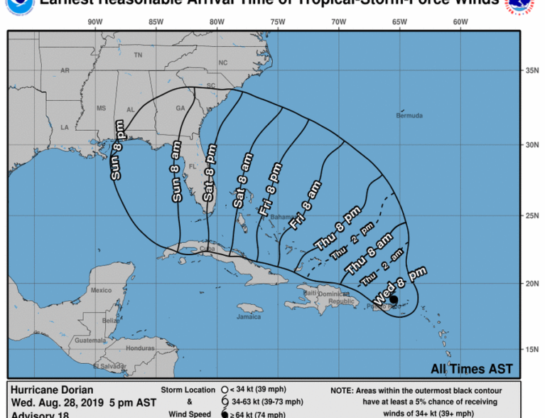 Gov Declares State Of Emergency Ahead Of Hurricane Dorian All News Featured News Secondary News Indian River County Indian River County