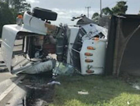 4 sent to hospitals after 2-truck crash on 66th Ave. in south county