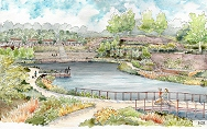 artist rendering of Historic Fourth Ward Park Atlanta