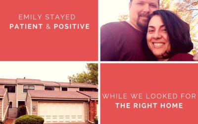 Angelina & Kyle: Emily stayed patient and positive while we looked for the right home.