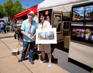 Art buyer picture taken with artitst