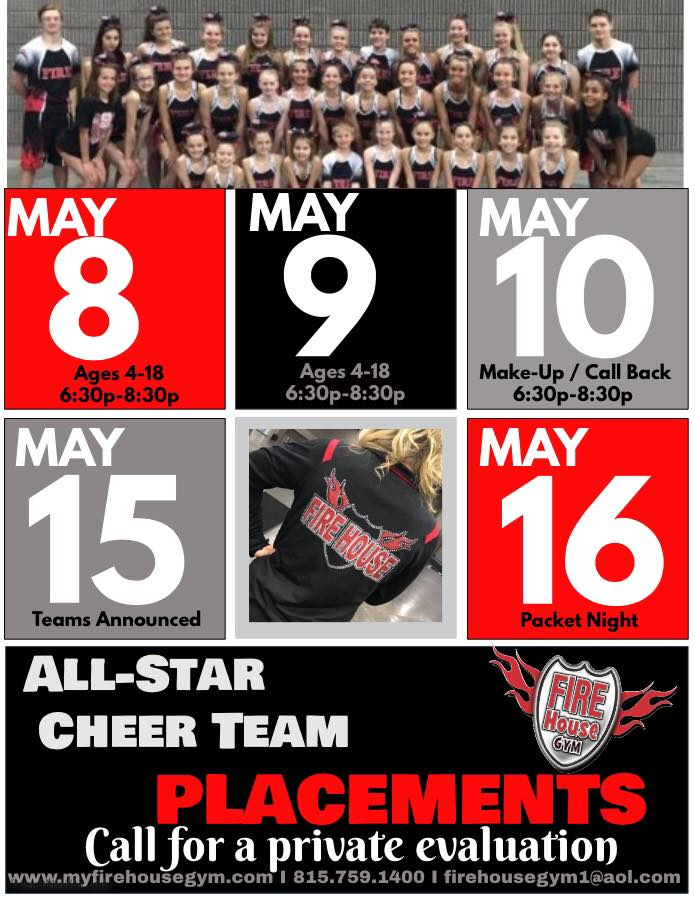 Cheer Placements & Team Program Packet