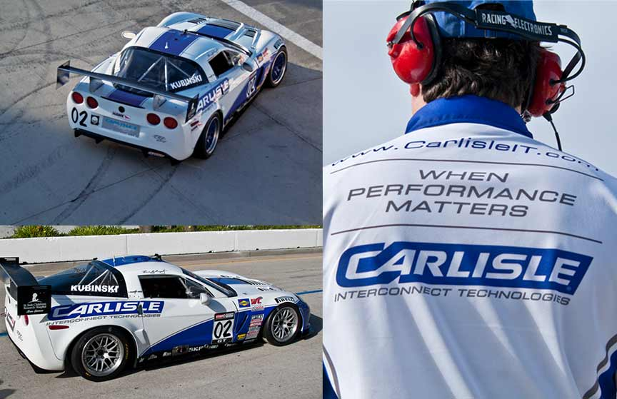 CarlisleIT Racing Corvette in action!