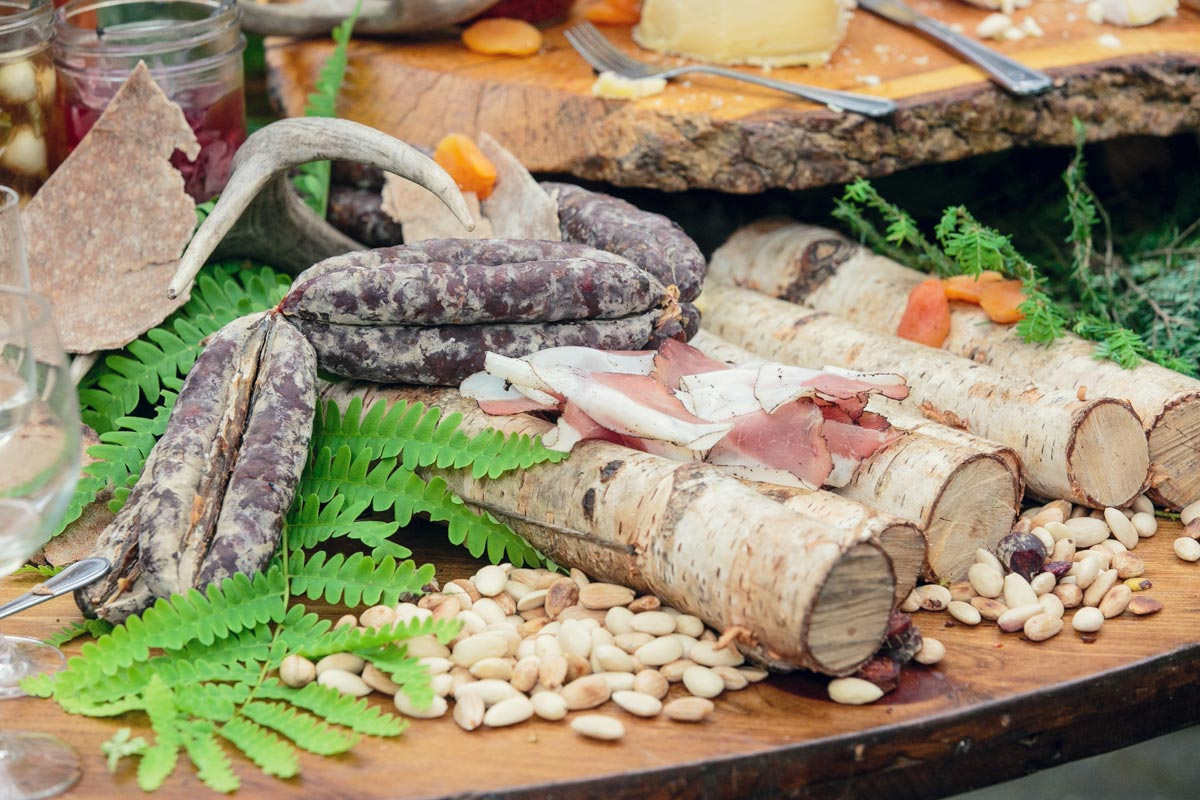 Heirloom fire charcuterie board
