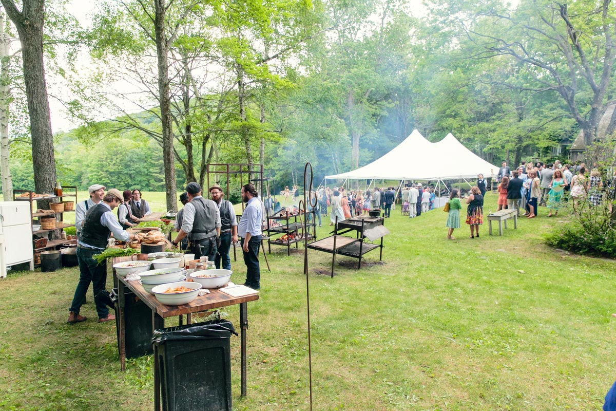 outdoor wedding in the berkshires