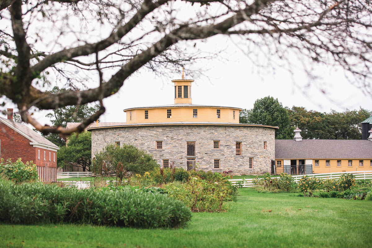 round barn hancock shaker village wedding