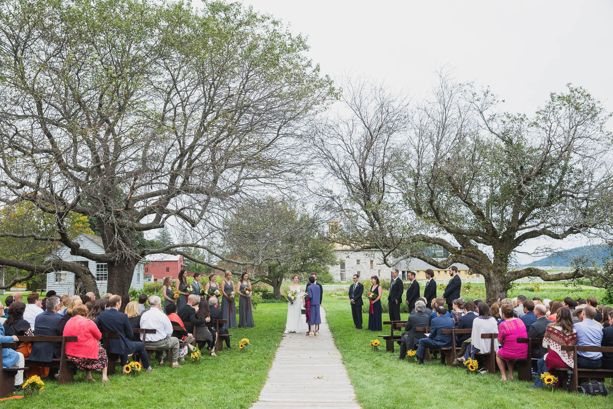 hancock shaker village wedding ceremony