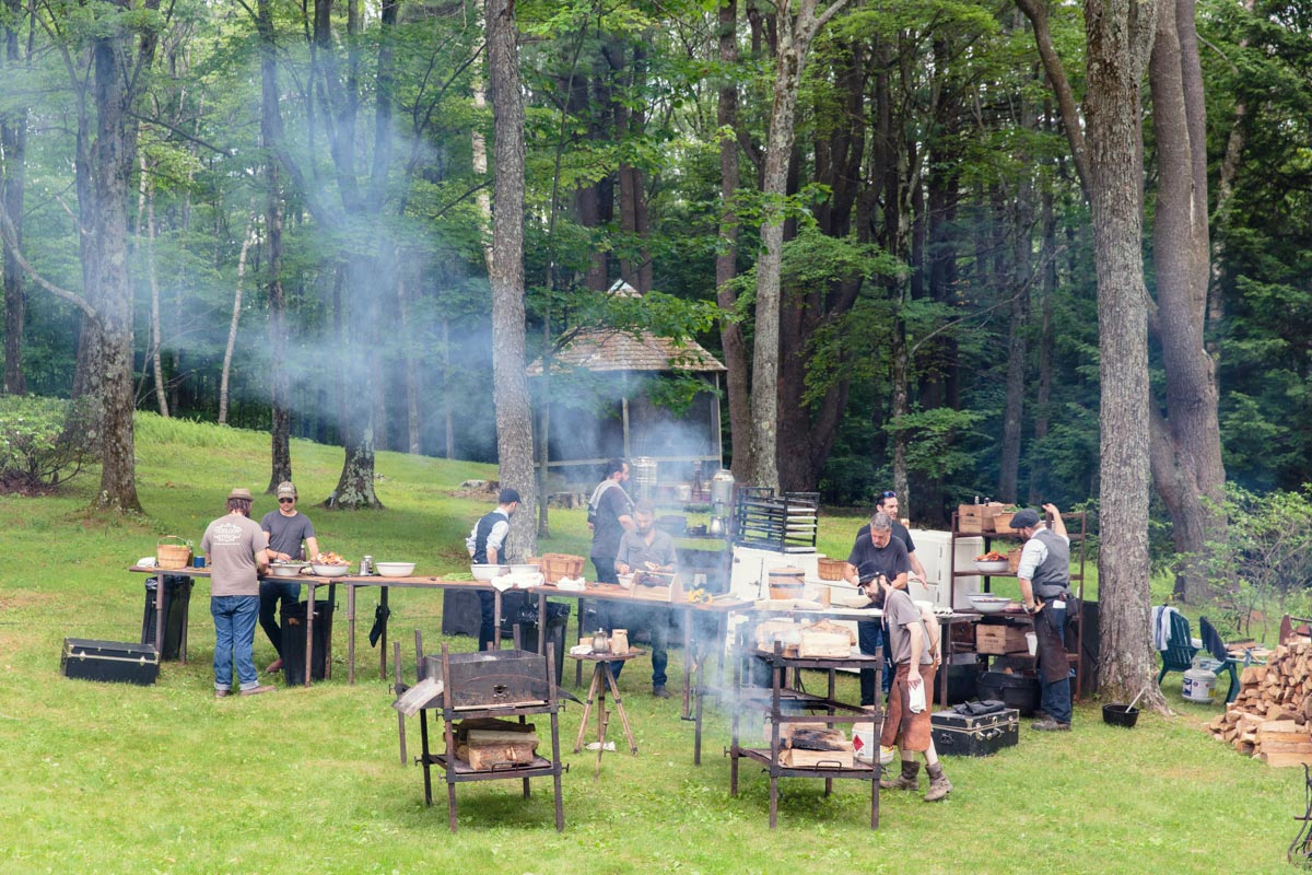 heirloom fire wedding catering in the berkshires