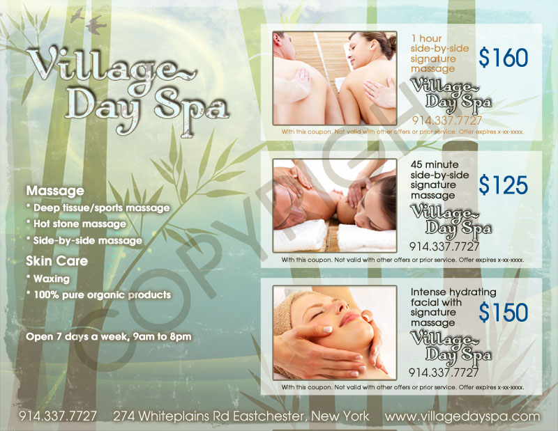 Flyer Design for Village Day Spa