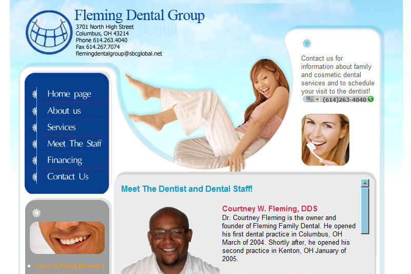 Fleming Family Dental Care Website Design