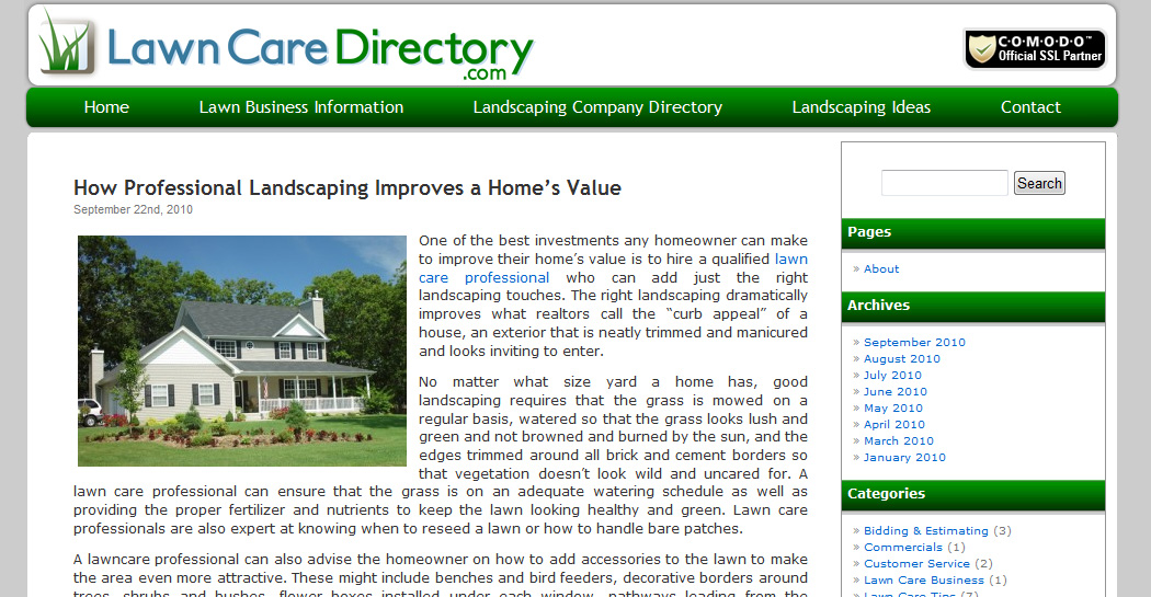 Lawn Care Directory Blog