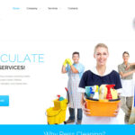 WordPress website design for cleaning company!
