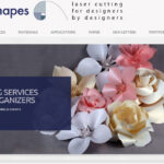 WordPress Website Design for Laser Cutting Shapes