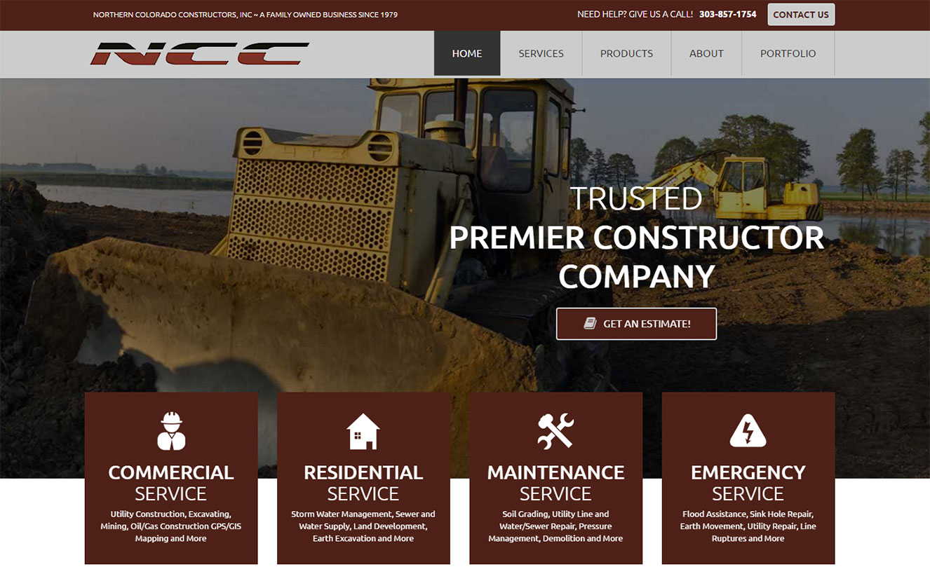 Custom Web Design for Northern Colorado Constructors