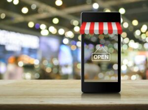 eCommerce Store on Mobile Phone